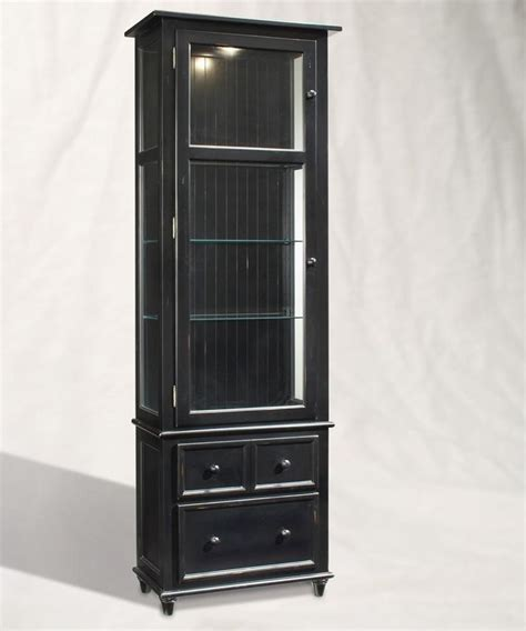 Curio Cabinet Black Finish Colortime Vista Curio Cabinet Finish Pirate Black For