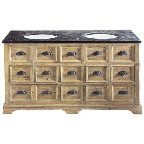 meuble salle de bain 160 cm meuble vasque en bois et marbre l 160 cm st quentin maisons du monde