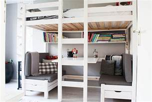 bunk bed with sofa and desk underneath loft beds with desks underneath 30 design ideas with