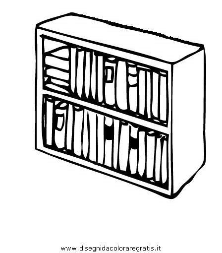 disegnare una libreria mobili 11 disegni per bambini da colorare