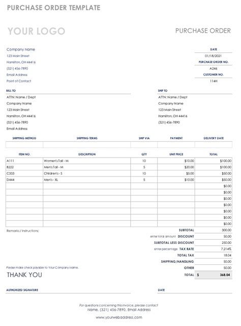 Free Purchase Order Templates Smartsheet Purchase Order Template Sheets