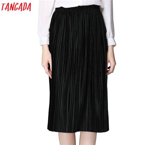 aliexpress buy tangada velvet pleated skirts womens