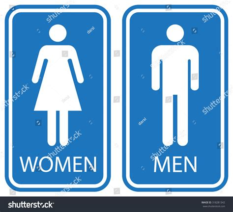 washroom images toilet signs white isolated stock vector