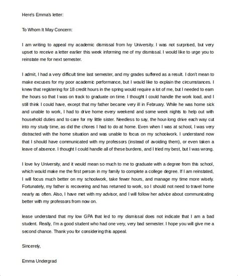 letter of appeal sle template learnhowtoloseweight net
