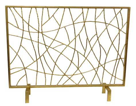 Gold Fireplace Screens by Gold Twig Screen Livluxe Designs
