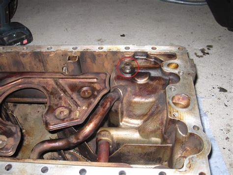 oil pan removal  oil pressure warning light page