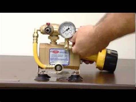 Hydrostatic Pressure Test Plumbing by Reed Manufacturing Drill Powered Hydrostatic Test