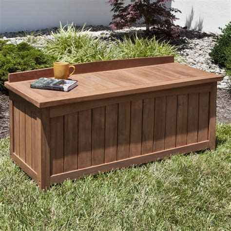 outdoor wood storage bench garden storage bench smalltowndjs com