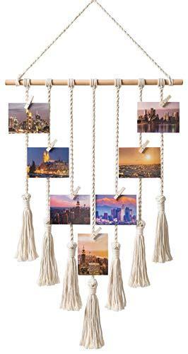 mkono hanging photo display macrame wall hanging pictures
