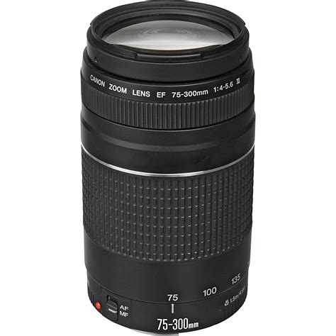 canon ef 75 300mm f 4 5 6 iii lens 6473a003 b h photo