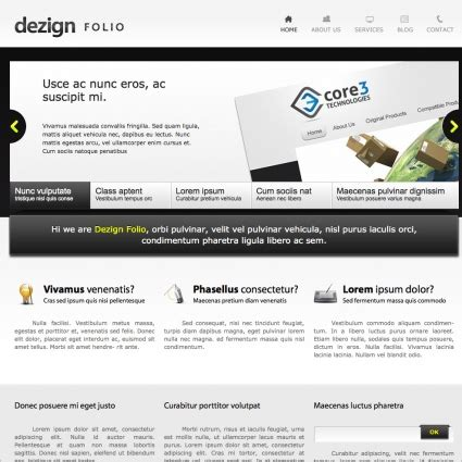 dezign folio template free website templates in css html