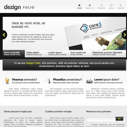 folio template dezign folio template free website templates in css html