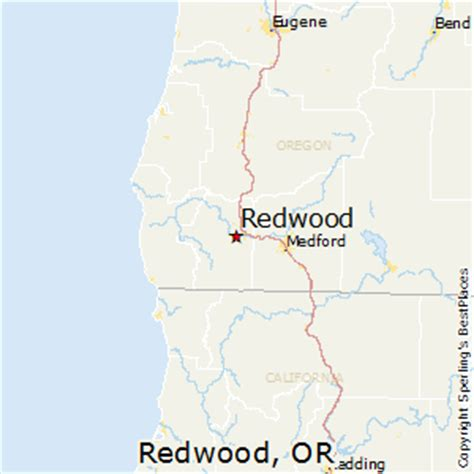 map of oregon redwoods best places to live in redwood oregon