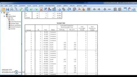 tutorial spss kaplan meier spss v 23 lesson 98 kaplan meier survival analysis حصريا