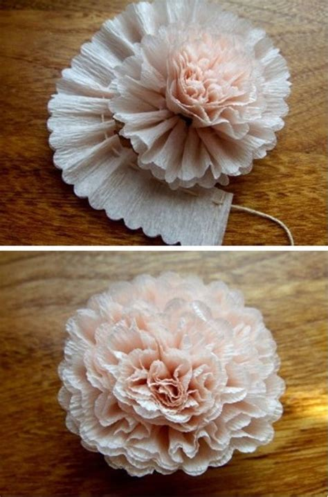 crepe paper craft crepe paper flower diy crafts
