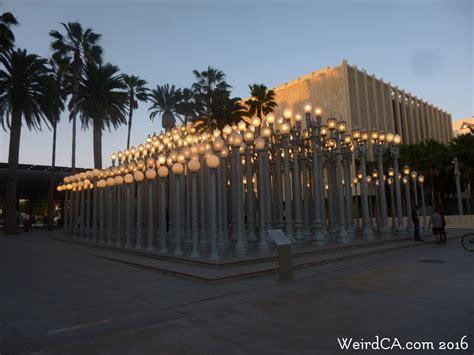 los angeles street lights urban light weird california