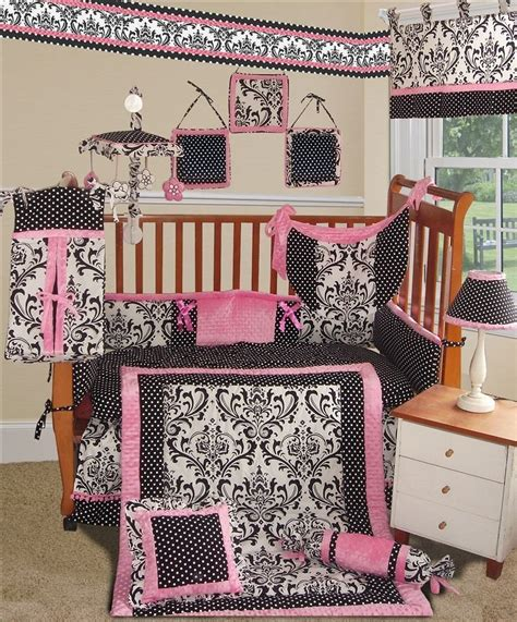 rose crib bedding sisi rose damask baby bedding collection baby bedding