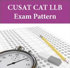 pattern of cat exam cusat cat llb exam pattern paper pattern 2017 check here