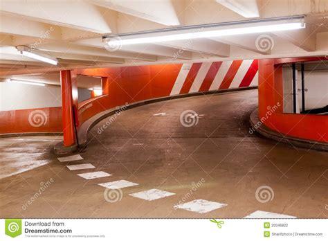 Round Garage Plans Exit Ramp In Parking Garage Stock Photography Image