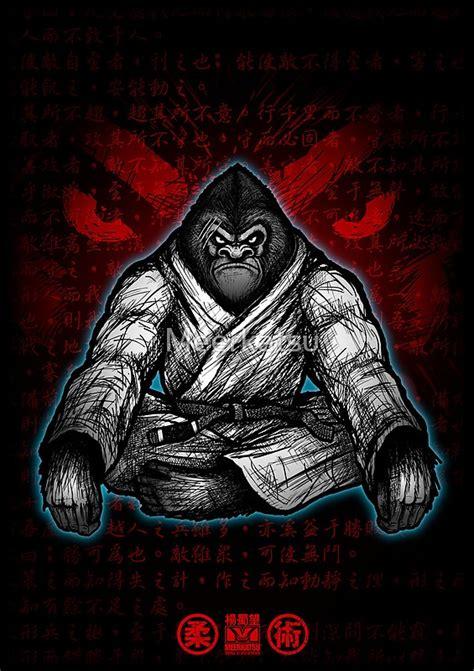 quot black belt gorilla quot posters by meerkatsu redbubble