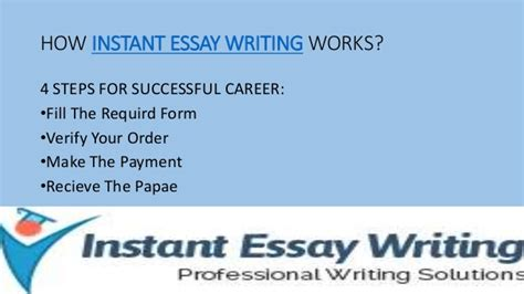 Instant Essay Writer by Instant Essay Writing Get Quality Essay From Expert Writers