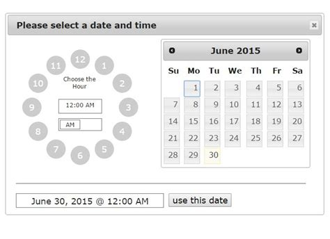 select format date php jquery time picker plugins jquery script