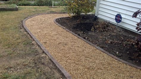 Paver And Gravel Patio Time Pavers Pea Gravel Patio Walkways With Brick Border