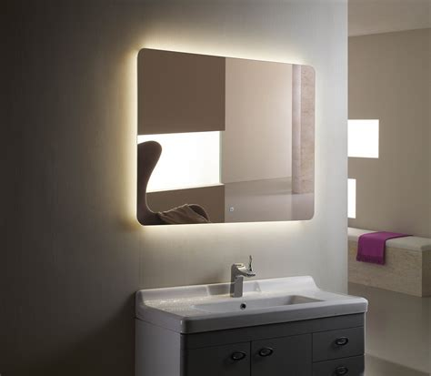 backlit mirrors for bathrooms backlit mirror led bathroom mirror montana iii