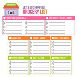 sample shopping list template 7 free documents download