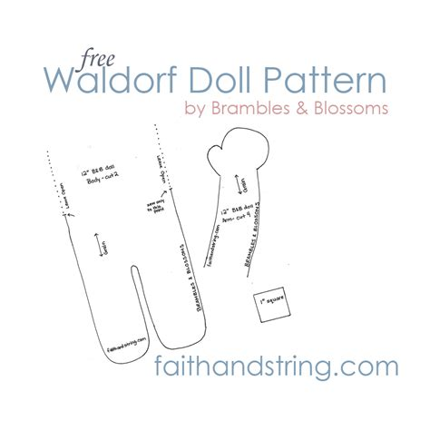pdf of pattern making making a waldorf doll part 3 body and pattern faith