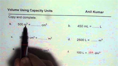 Conversion Of Liter To Meter Cube by Test Convert Volume Units Liters To Meter Cube And Cm Ml