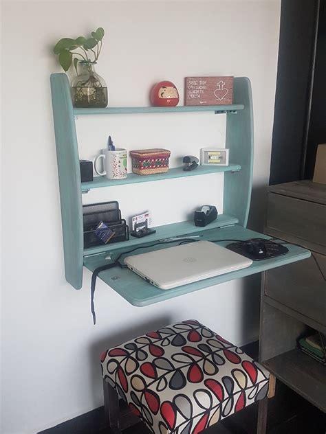 escritorio plegable de madera ideal  espacios pequenos