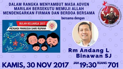 Cermin Di Pejompongan menyambut masa adven 2017 bersama pdpkk stasi fransiskus