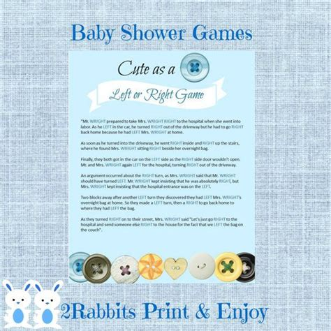 Right Left Baby Shower by As A Button Left Or Right Baby Shower Instant