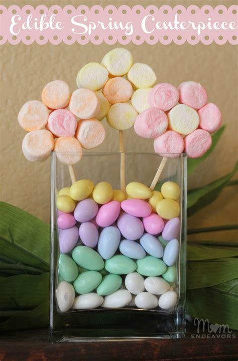 edible table centerpieces edible craft marshmallow flowers centerpiece
