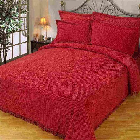 red coverlets red chenille bedspread decor ideasdecor ideas