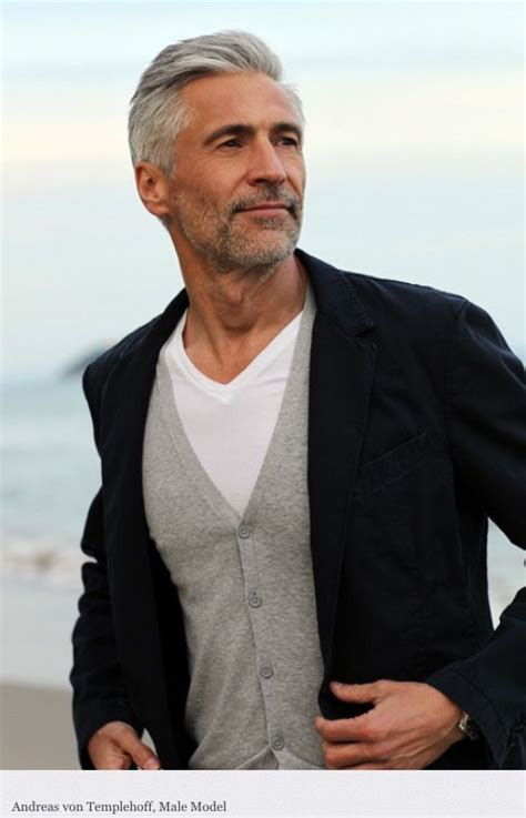 grey hair men over 50 handsome gray haired male model nyc hair salons www