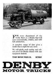 Classic Car Ads: Denby Trucks