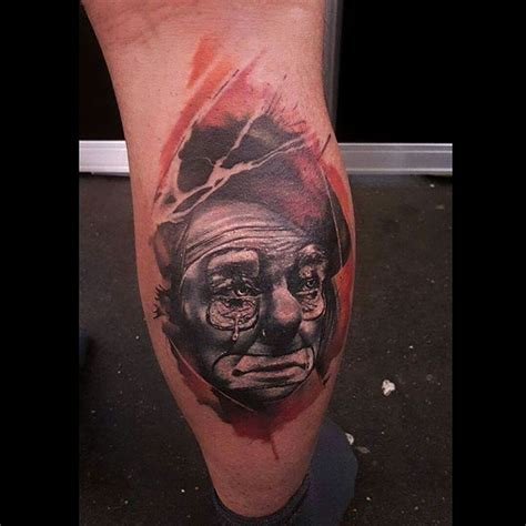 sad clown tattoo sad clown tattoos www pixshark images galleries