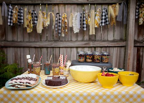 backyard bonfire trail mix party favors a beautiful mess
