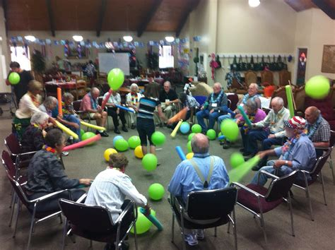 themed events for the elderly pool quot noodles quot and balloons staying active and having fun