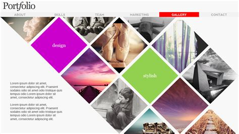 presentation magazine free powerpoint template portfolio magazine powerpoint presentation templates on