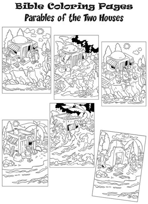 coloring pages house on the rock coloring page wise man built his house upon the rock