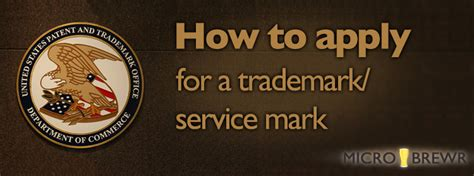 how to qualify for a service how to apply for a trademark service microbrewr