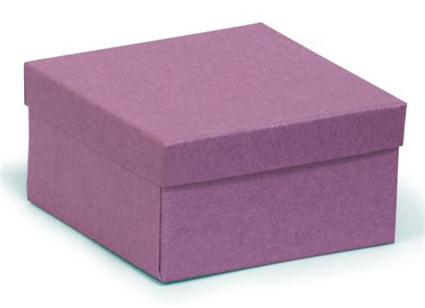 square deeper recycled kraft purple gift box purple recycled jewellery box 89 x 89 x 51mm
