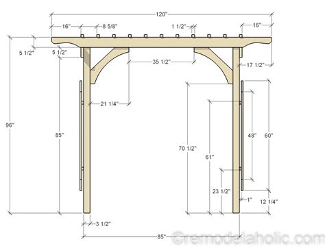 Wedding Arch Measurements by Remodelaholic 2x4 And More How To Build A Garden Arbor
