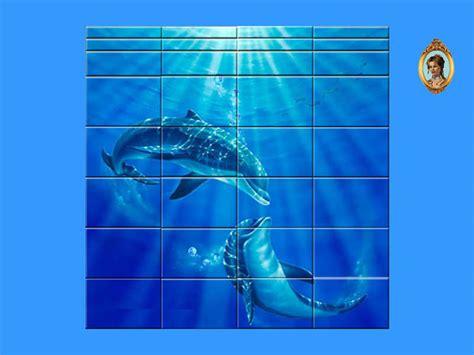 Dolphin Bathroom by Rennara S Dolphin Mural Bathroom Tiles