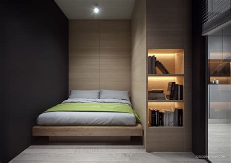 dark feature wall bedroom 4 small apartment interiors embracing character themes