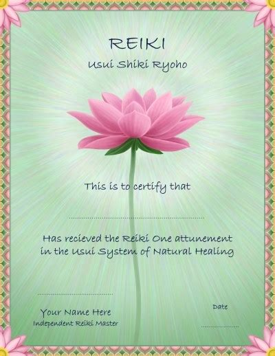 reiki certificate template free 10 best images of blank reiki certificate template free