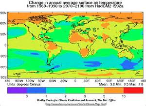 map of us with global warming global warming temperature increase map jpg 1027 215 751